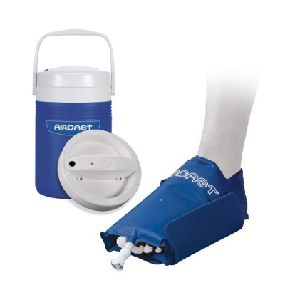 Aircast foot cryo cuff and automatic cold therapy ic for Cryo cuff ic motorized cooler