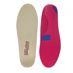 Express Orthotics Hard Density Red Full Length Insoles