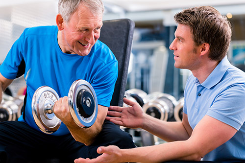 Weight training at old age