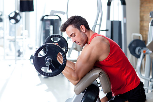 Weight lifting to build muscle resistance training