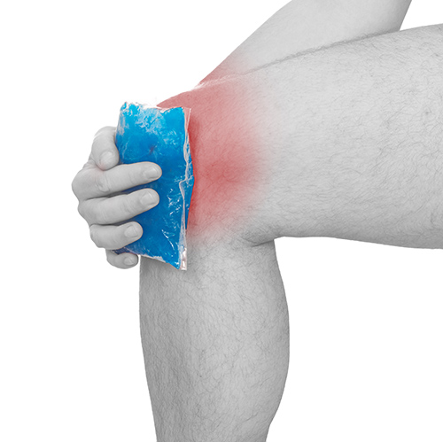ice pack to the knee cold therapy cryotherapy