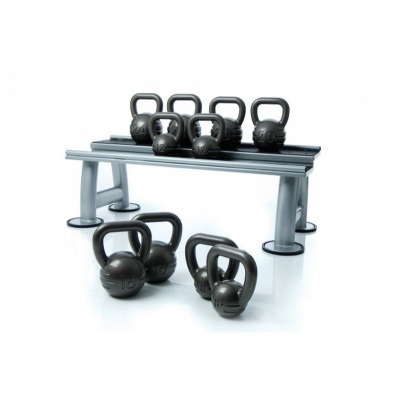 Escape Fitness Cast Iron Kettlebell Set and Rack
