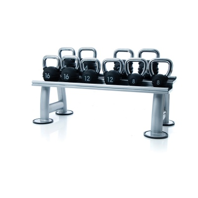 Escape Fitness Rubber Kettlebell Set and Rack