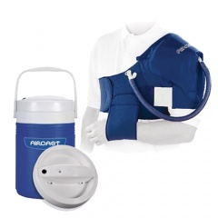 Aircast Shoulder Cryo Cuff and Automatic Cold Therapy IC Cooler Saver Pack