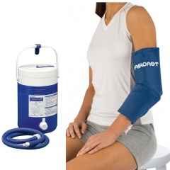 Aircast Elbow Cryo Cuff and Cold Therapy Gravity Cooler Saver Pack