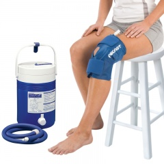 Aircast Knee Cryo Cuff and Cold Therapy Gravity Cooler Saver Pack