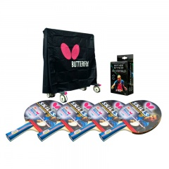 Butterfly Outdoor Deluxe Table Tennis Pack for 4 Players